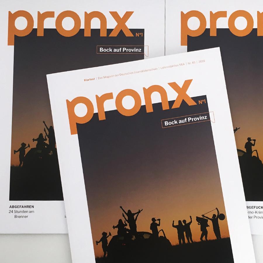 Klartext Magazin: Pronx, an der Deutschen Journalistenschule
