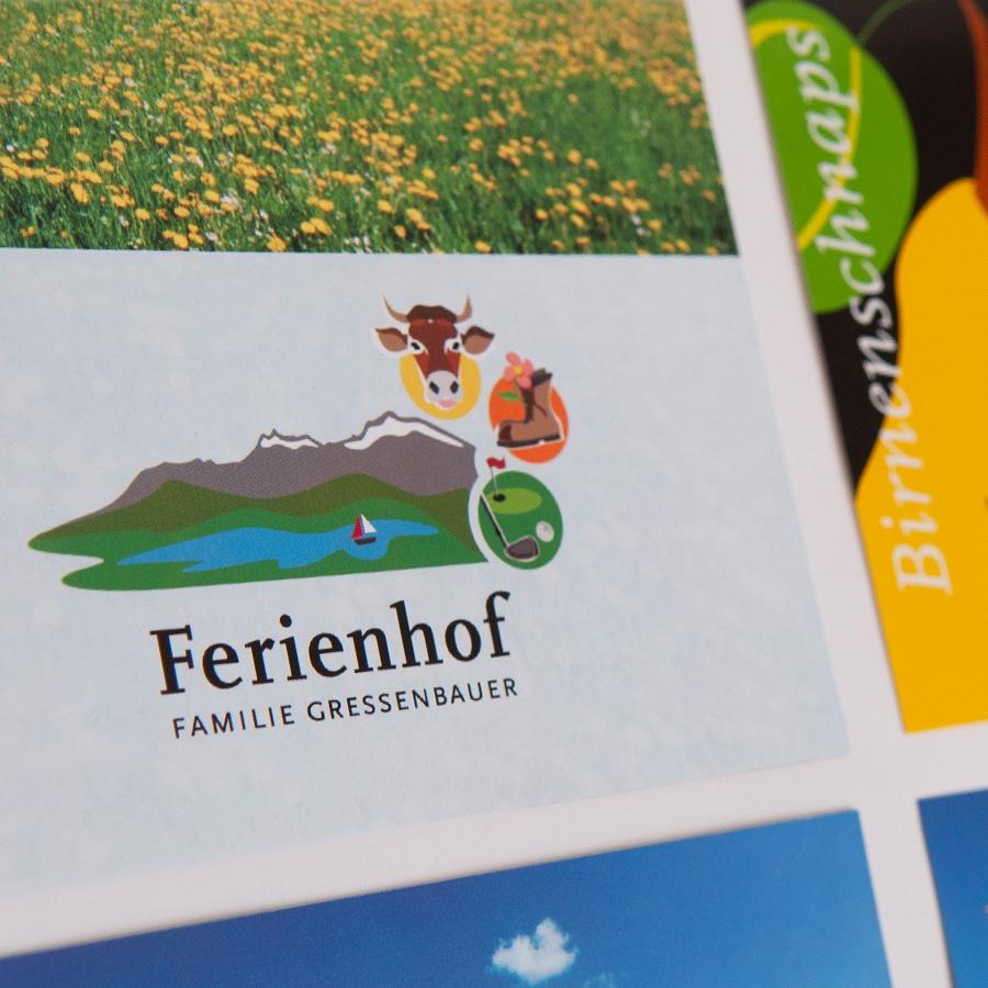 Ferienhof Gressenbauer, Österreich: Corporate Design und Website gressenbauer.net