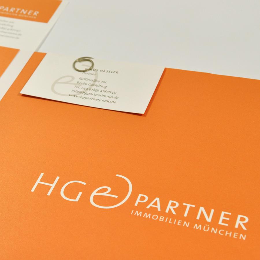 Geschäftsausstattung HG&Partner Immobilien München