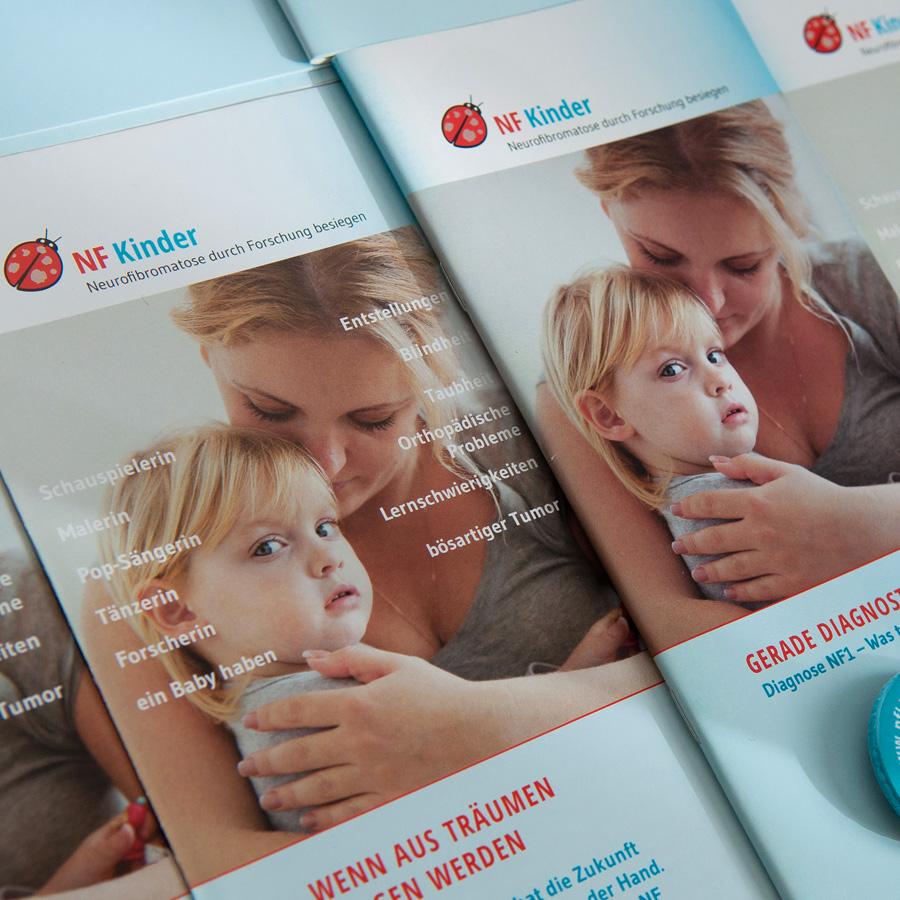 NF Kinder, Verein zur Förderung der Neurofibromatoseforschung: Corporate Design, Website