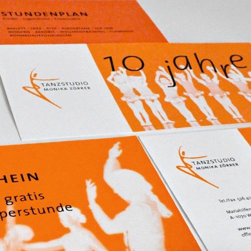 Tanzstudio Monika Zörrer, Wien: Logoentwicklung und Corporate Design