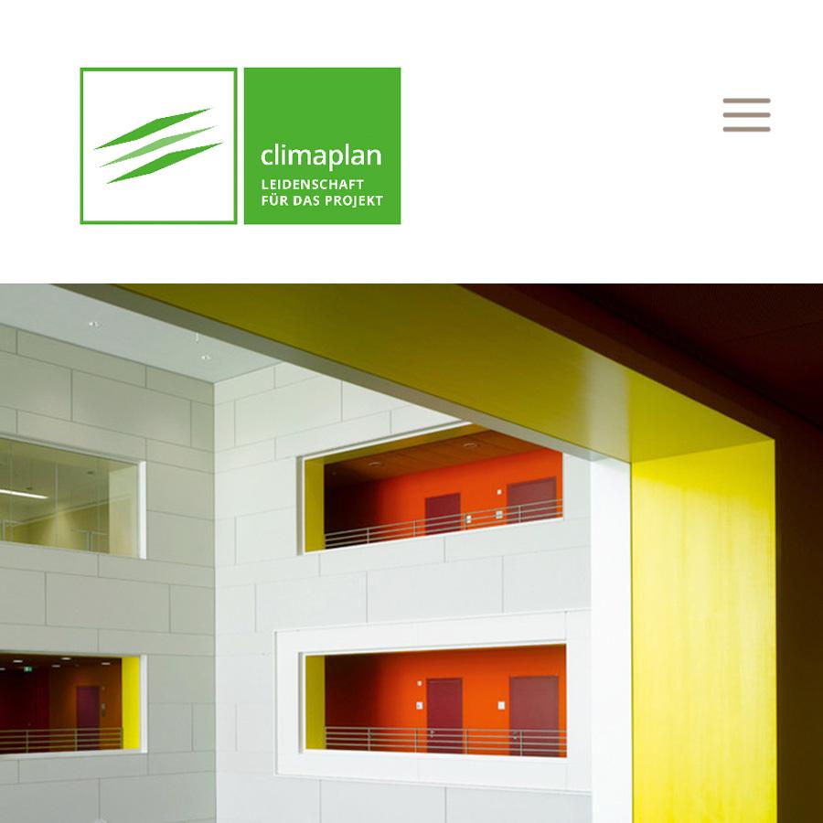 Neue Climaplan Website, Designkonzept & Umsetzung