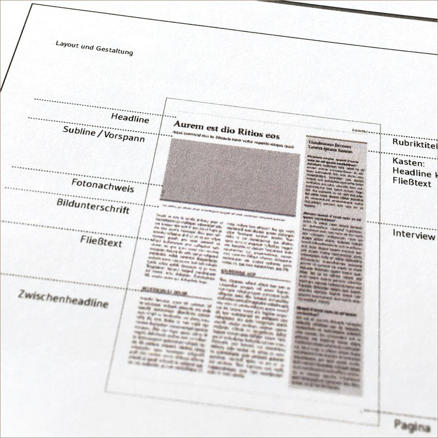 Seminar: Layout und Gestaltung kompakt, an der Akademie der deutschen Medien
