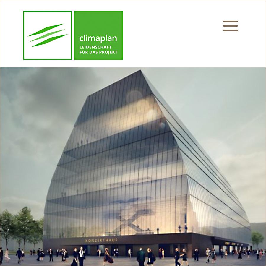 Website Climaplan GmbH, Design Elisabeth Wallner