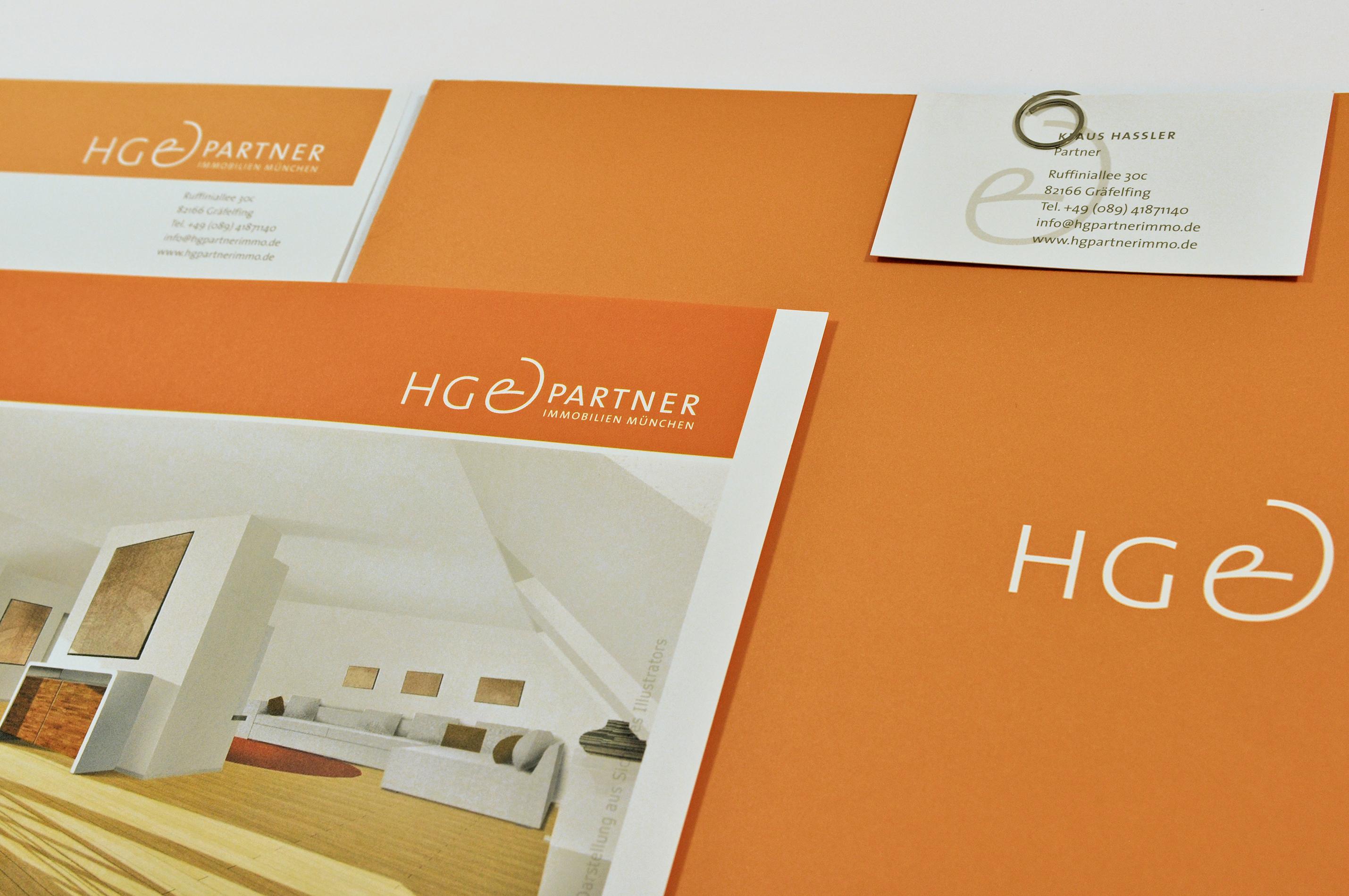 HG + Partner Immobilien München, Corporate Design